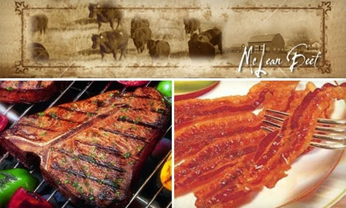 McLean Beef: $25 for $50 Worth of Delivered Beef, Pork, and More from McLean Beef