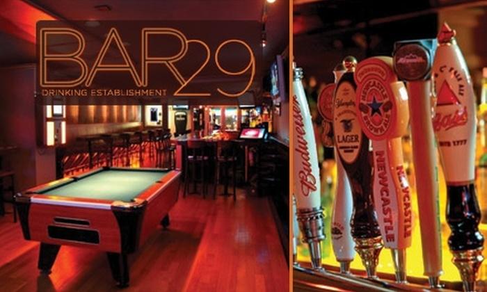 Bar 29  - Kips Bay: $15 for $30 Worth of Drinks and Eats at Bar 29