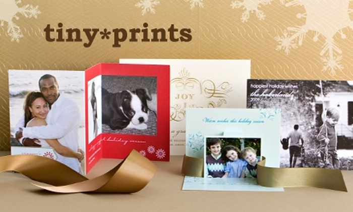 Tiny Prints  - Tampa Bay Area: $25 for $50 Worth of Personalized Holiday Cards, Invitations, and More from Tiny Prints