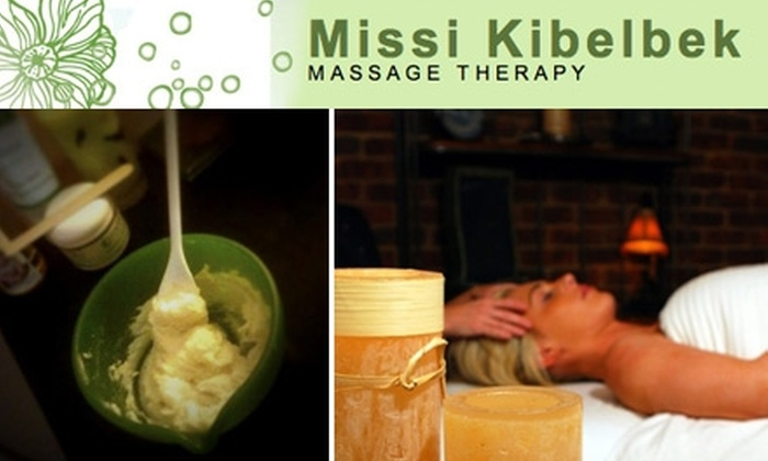 Missi Kibelbek Studio - Hampden: $60 for an Organic Sugar Glow and Shea-Butter Wrap at Missi Kibelbek Massage Therapy ($120 Value)