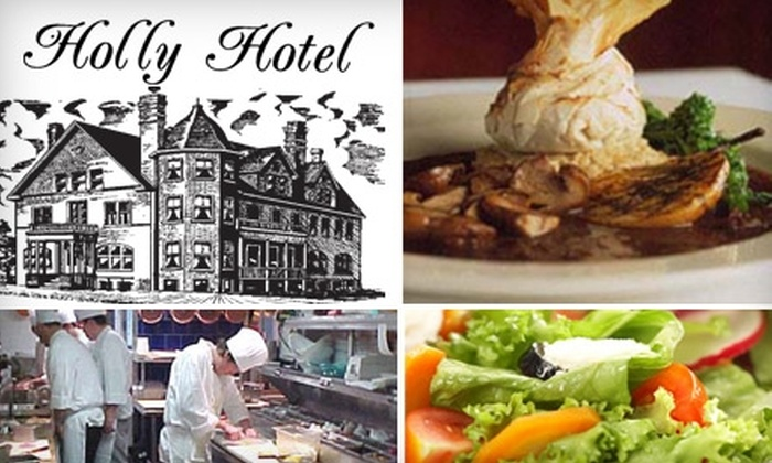 Holly Hotel - Village Of Holly Downtown: $20 for $50 Worth of Elegant Fine Dining & Drinks at Holly Hotel