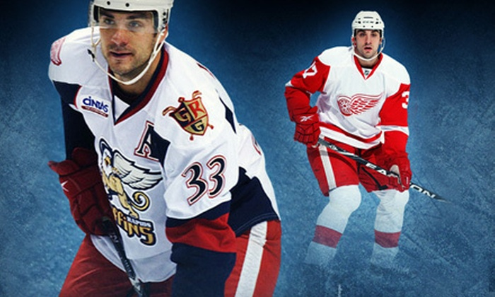Grand Rapids Griffins - Heartside-Downtown: $70 for a VIP Ticket Package for Four to See Grand Rapids Griffins Hockey at Van Andel Arena on April 4 ($142 Value)