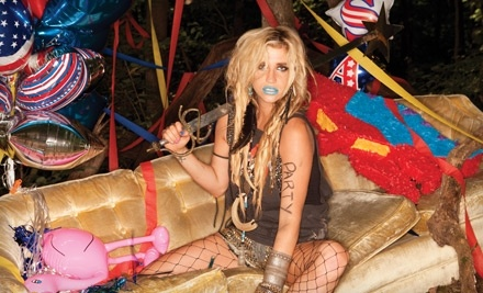 Live Nation: Ke$ha at The Cynthia Woods Mitchell  Pavilion in The Woodlands on Tue., August 2 at 7:30PM: Seating Section 105-110 ($31 Value) - Ke$ha at The Cynthia Woods Mitchell  Pavilion in The Woodlands in Houston