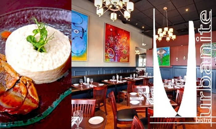 Urbanite Bistro - Media and Entertainment District: $15 for $35 Worth of Fusion Fare & Drinks at Urbanite Bistro
