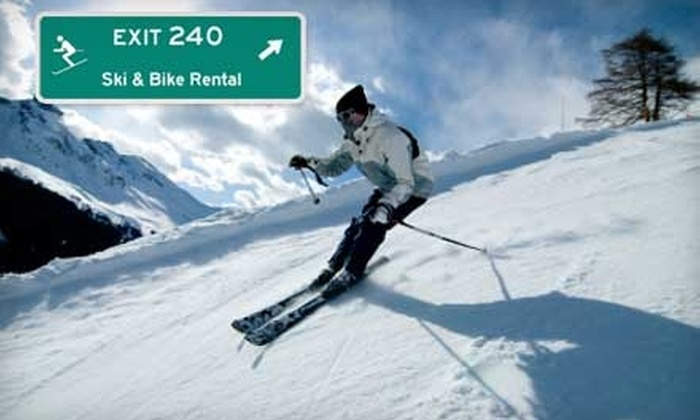 Exit 240 Ski and Bike Rental - Idaho Springs: $12 for a Skiing Performance Package Rental at Exit 240 Ski and Bike Rental in Idaho Springs ($25 Value)