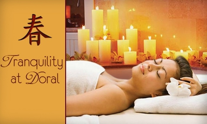 Tranquility at Doral - Doral: $29 for a Choice of Swedish Massage, Facial, Five Tanning Sessions, or Two Mani-Pedis at Tranquility at Doral (Up to a $100 Value)