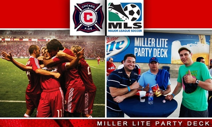 Chicago Fire - Multiple Locations: $30 Miller Lite Party Deck Ticket to Chicago Fire vs DC United, 8/29, and Free T-Shirt ($55 Value)