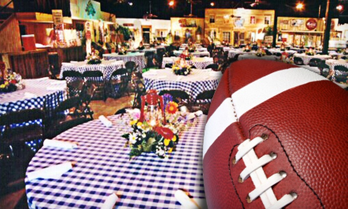 Sportz Partnerz - Downtown Dallas: Dallas Cowboys Legends Festival, All-You-Can-Eat Buffet, and Cook Off for Two, Four, or Six at Eddie Deen's Ranch from Sportz Partnerz (Up to 60% Off)