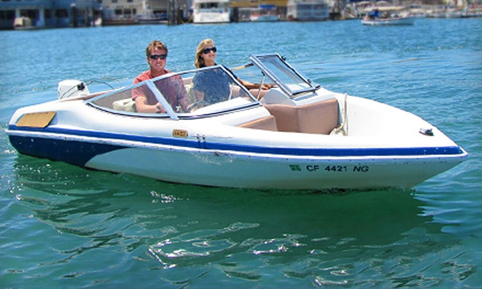 Marina Boat Rentals - Balboa Peninsula Point: $29 for a One-Hour Marina Runabout Rental for Up to Four from Marina Boat Rentals in Newport Beach ($69 Value)