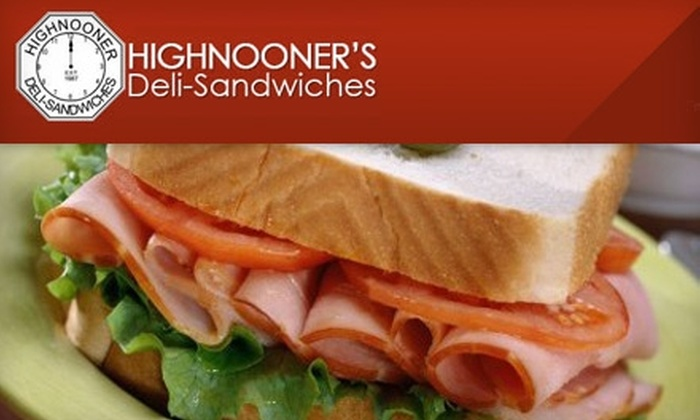 Highnooner's - Downtown: $5 for $10 Worth of Sandwiches and Deli Fare at Highnooners