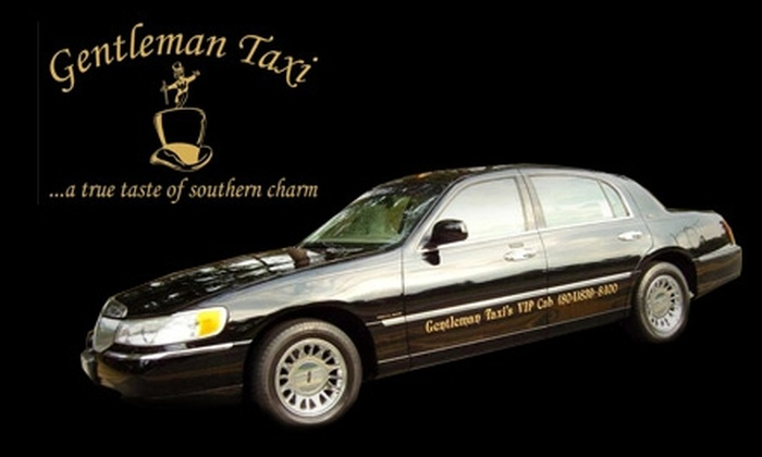 Gentleman Taxi - Richmond: $8 for $16 Toward One-Way Transportation Anywhere in the Metro Richmond Area or $20 for $40 Toward One-Way Transportation to Richmond Airport from Gentleman Taxi