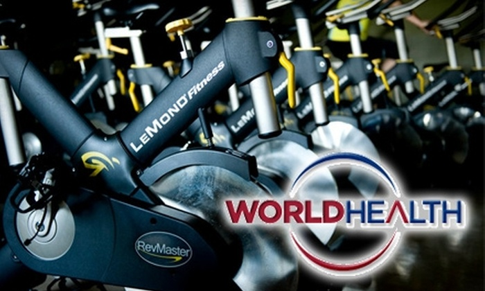 World Health - Multiple Locations: $19 for a One-Month Membership, Plus Two Personal-Training Sessions ($235 Value), or $25 for a $50 Gift Card to World Health. Choose from 10 Locations.