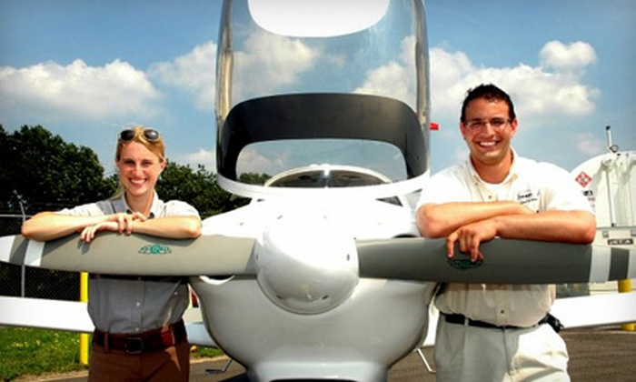 Image Aviation Services - Oxford: $50 for an Introductory Flight Lesson at Image Aviation Services in Oxford ($99 Value)