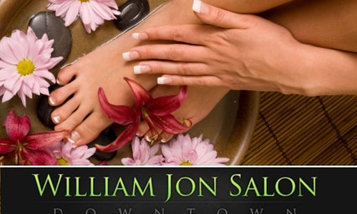 William Jon Salon Downtown - Capitol: $35 for Classic Manicure and Pedicure at William Jon Salon Downtown ($80 Value)