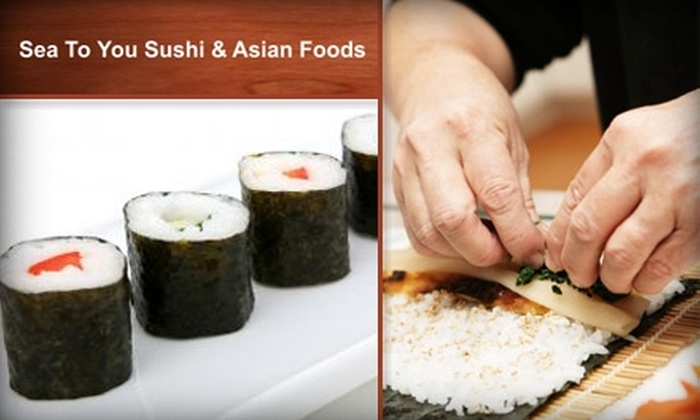 Sea to You Sushi & Asian Foods  - Brookline Village: $60 for a VIP Sushi Platter from Sea to You Sushi & Asian Foods