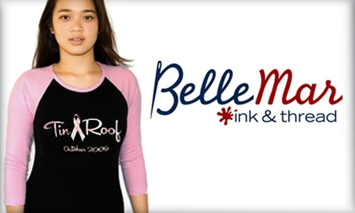 Belle Mar Ink & Thread  - Hillwood: $15 for $30 Worth of Monogramming, Embroidery, and More at Belle Mar Ink & Thread
