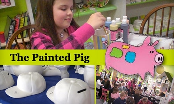 The Painted Pig - Multiple Locations: $10 for $20 Worth of Paint-Your-Own Pottery at The Painted Pig