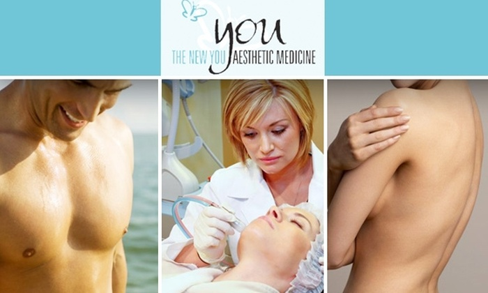 The New You Med Spa - Northeast Dallas-white Rock: Three Laser Hair Removal Treatments at The New You Aesthetic Medicine Med Spa