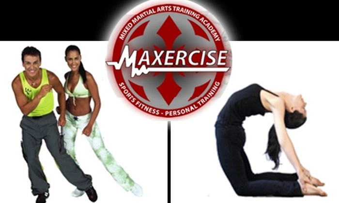 Maxercise - Center City East: $35 for Five Zumba or Yoga Classes at Maxercise