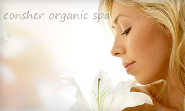 Consher Organic Spa - Detroit: $30 for Minx Nails ($60 Value) or $40 for One Airbrush Base Tan and One Touch Up Tan ($85 Value) at Consher Organic Spa in Birmingham