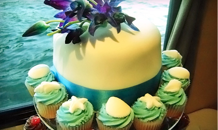 Cupcasions - Central City: Cupcakes or Three-Tier Wedding Cake at Cupcasions (Half Off)