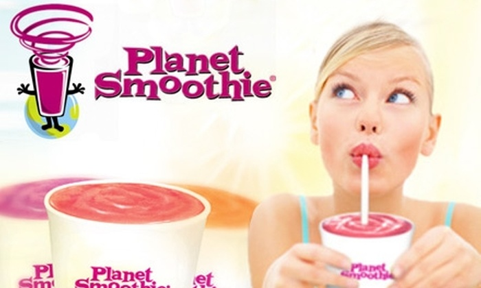 Planet Smoothie - Multiple Locations: $5 for $15 Worth of Smoothies and Healthy Snacks at Planet Smoothie