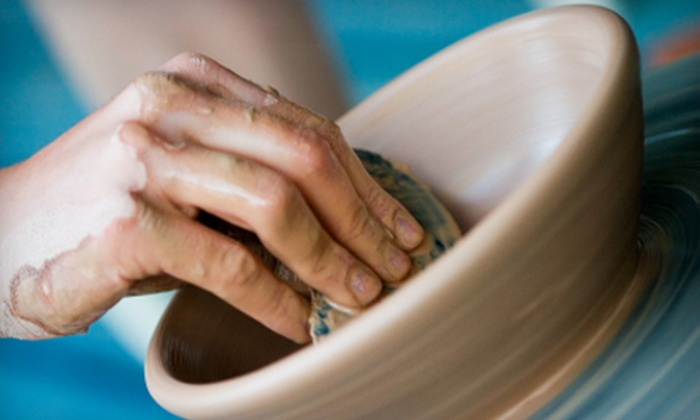 Earth & Soul Pottery - East Bayside - India Street: $40 for Three Adult Pottery Classes and Gift Certificate for In-Store Items at Earth & Soul Pottery (Up to $83 Value)