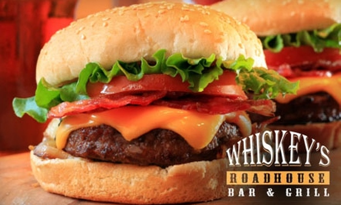 Whiskey's Roadhouse Bar & Grill - Rockford: $7 for $14 Worth of Food and Drinks at Whiskey's Roadhouse Bar & Grill