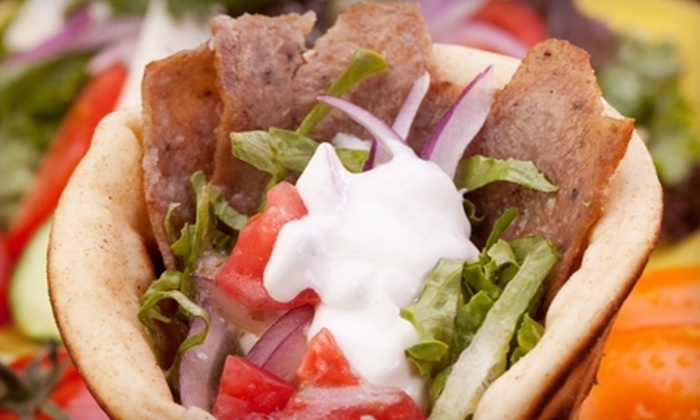 Gyroville - Multiple Locations: $5 for $10 Worth of Greek Fare at Gyroville in Pembroke Pines or Fort Lauderdale