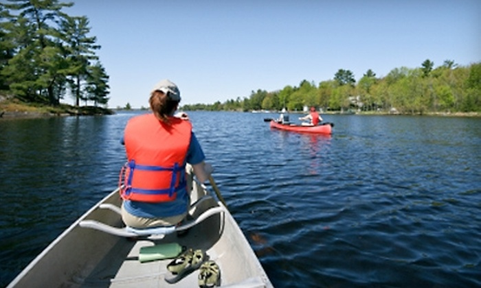 Twin Rivers Canoes Rentals - Eureka: $27 for Scenic Canoe Ride for Two with Seatbacks from Twin Rivers Canoe Rentals in Eureka (Up to $55 Value)