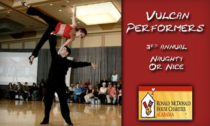 "Rhythm N Motion - Multiple Locations: $10 for One Ticket to Vulcan Performers' ""Naughty or Nice"" Show Plus Two One-hour Dance Classes at Rhythm N Motion ($30 value)"