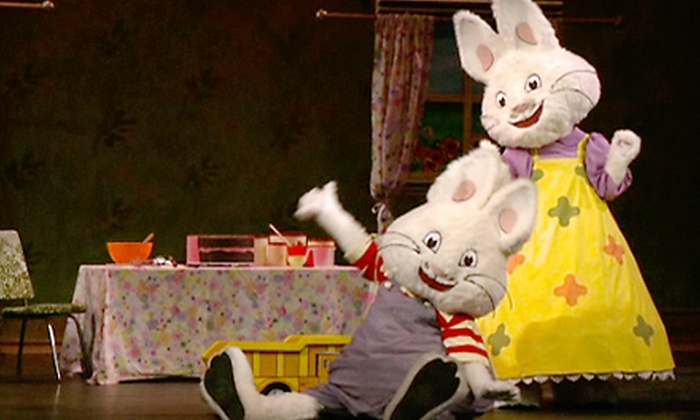 "Max & Ruby: Bunny Party - Racine: Two Tickets to See ""Max & Ruby: Bunny Party"" at the Racine Civic Centre on October 5 at 6:30 p.m. Two Options Available."