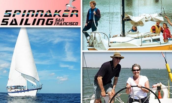 Spinnaker Sailing - Potrero: $185 for Basic Keelboat Sailing Lessons from Spinnaker Sailing