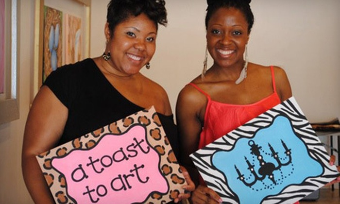 A Toast to Art - McDonough: BYOB Painting Class for 2, 4, or 12 at A Toast To Art in McDonough (Up to 60% Off)