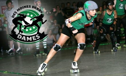 Des Moines Derby Dames vs. Quad City Rollers and Your Mom vs. Sioux City Kornstalkers on 2/19 - Des Moines Derby Dames in Des Moines