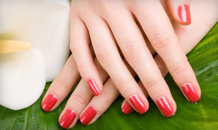 Salon 195 - Cobbs Hill: Two Regular or Gel Manicures with Paraffin Wax Treatments at Salon 195 (Up to 56% Off)