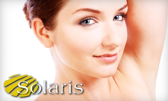 Solaris Spa & Laser Clinic - McMillan: $129 for Three Laser Hair-Removal Sessions at Solaris Spa & Laser Clinic (Up to $360 Value)