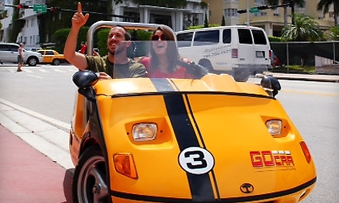 Go Car Tours - City Center: $24 for a One-Hour GoCar Tour of Miami Beach ($49 Value)