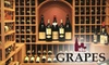 $10 for Wine at Grapes The Wine Company