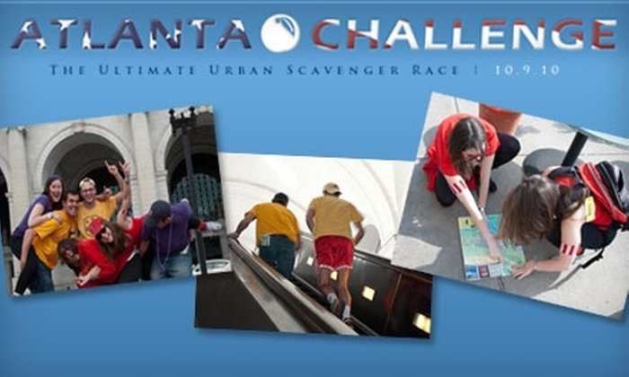 Atlanta Challenge - Downtown: $25 to Participate in the Atlanta Challenge: The Ultimate Urban Scavenger Race on October 9
