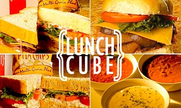The Lunch Cube - Downtown West: $7 for $15 of Sandwiches & More at The Lunch Cube