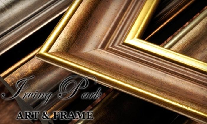 Irving Park Art & Frame - Old Irving Park: $40 for $100 Worth of Custom Framing at Irving Park Art & Frame