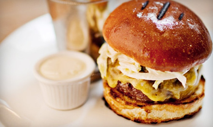 Comme Ca - The Strip: Burger and Bourbon Meal for One or Dinner for Two with a Bottle of Rosé at Comme Ça (Half Off)