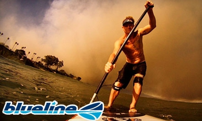 Blueline Paddle Surf - Inlet District: $22 for Paddleboard Lesson at Blueline Paddle Surf ($45 Value)