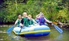 Pine River Paddlesports Center - Wellston: Camping and Canoe, Kayak, or Raft Rental Packages at Pine River Paddlesports in Wellston. Four Options Available.