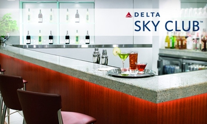 Delta Sky Club - New Orleans: $22 for a One-Visit Pass to Delta Sky Club ($50 Value)