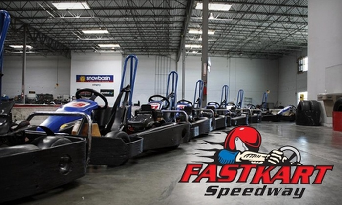 Fastkart Indoor Speedway - Millcreek: $25 for Two Race Sessions, One Appetizer, and Two Fountain Drinks at Fastkart Indoor Speedway (Up to $51 Value). Choose Between Two Options.