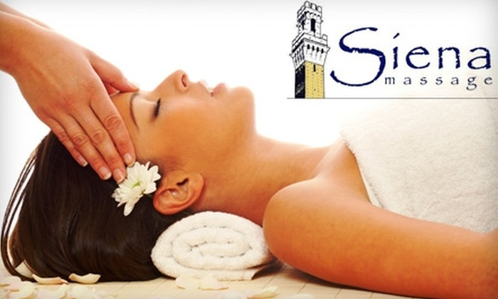 Siena Massage - Frisco: $69 for Two One-Hour Massages with Premium Body Oil or Lotion at Siena Massage in Frisco