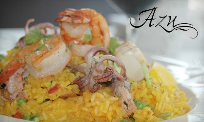 Azu - Ojai: $25 for $50 Worth of Mediterranean Eats and Drinks at Azu (or $55 if redeemed Sunday–Wednesday)