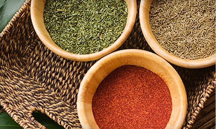 Indigo Spices: $15 for $30 Worth of All-Natural Herbs, Teas, and Supplements from Indigo Spices